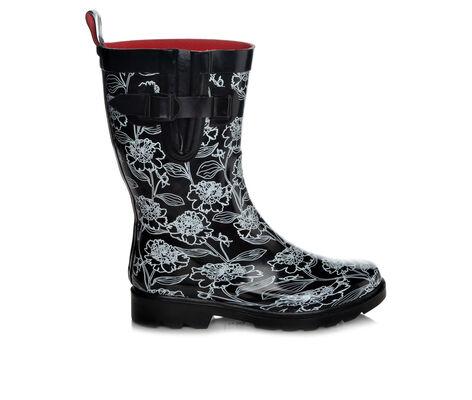 Women's Capelli New York Fine Floral Mid Shaft Rain Boots