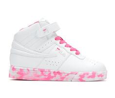 Girls' Fila Little Kid & Big Kid Vulc 13 Mid Mashup High Top Basketball Shoes