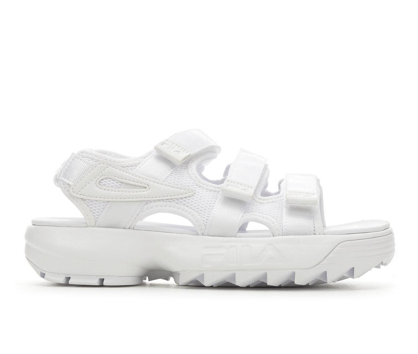 Women's Fila Disruptor Sandal Flatform Sandals White/White/Wh