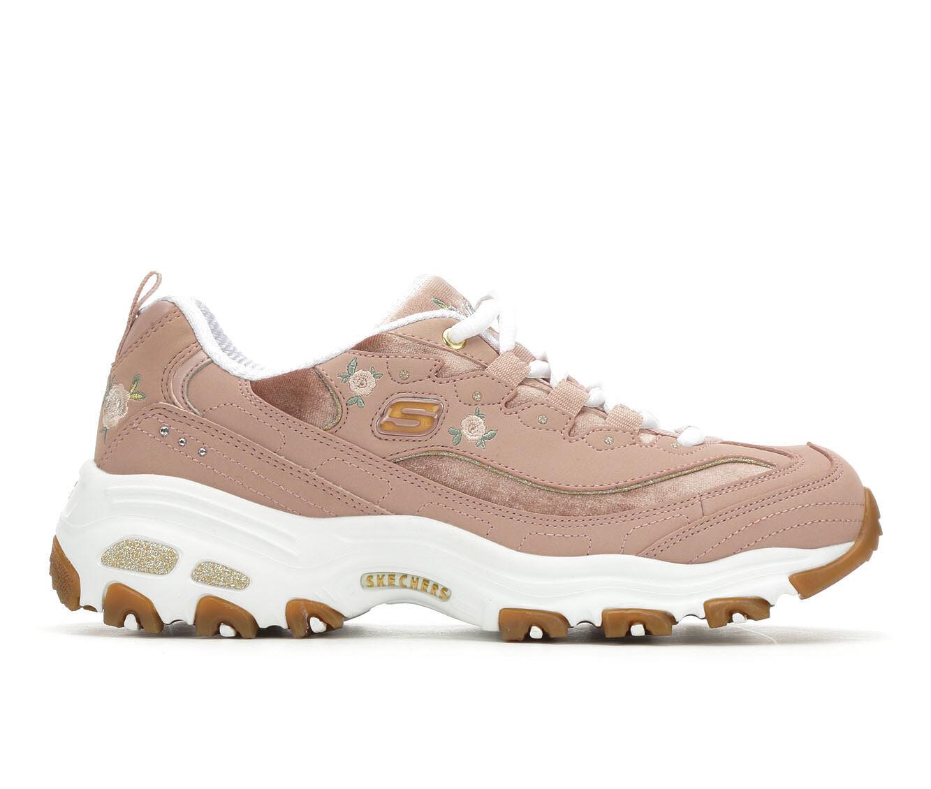 Women's Skechers D'Lites Rose Blooms 13084 Sneakers Rose/White/Gum