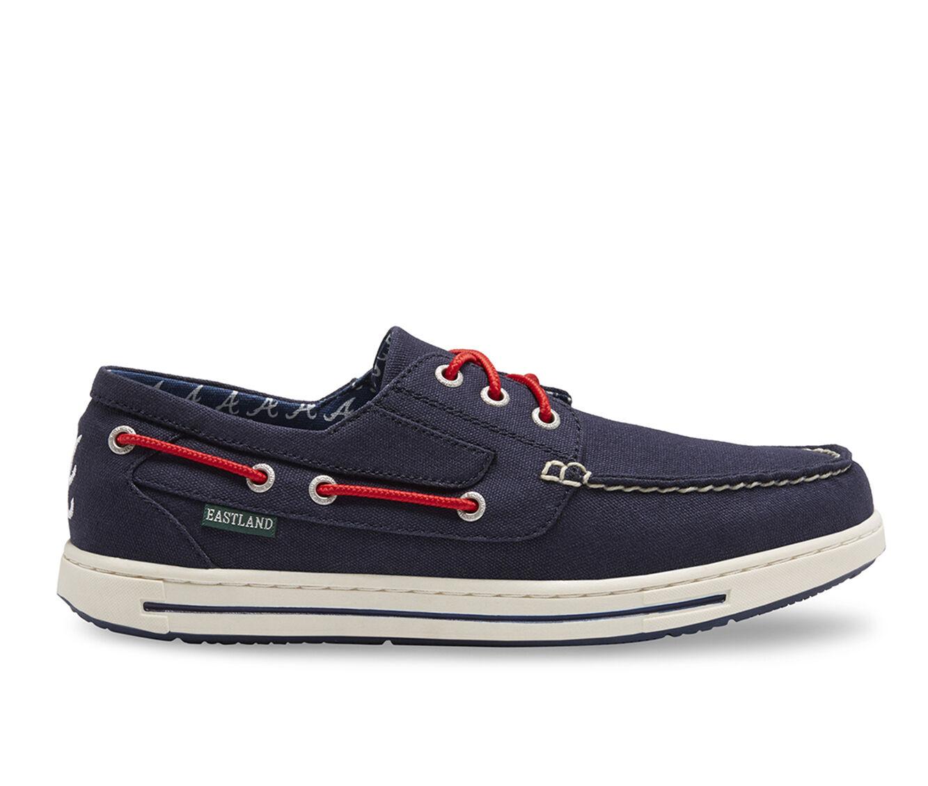 Men's Eastland Adventure MLB Braves Boat Shoes Blue