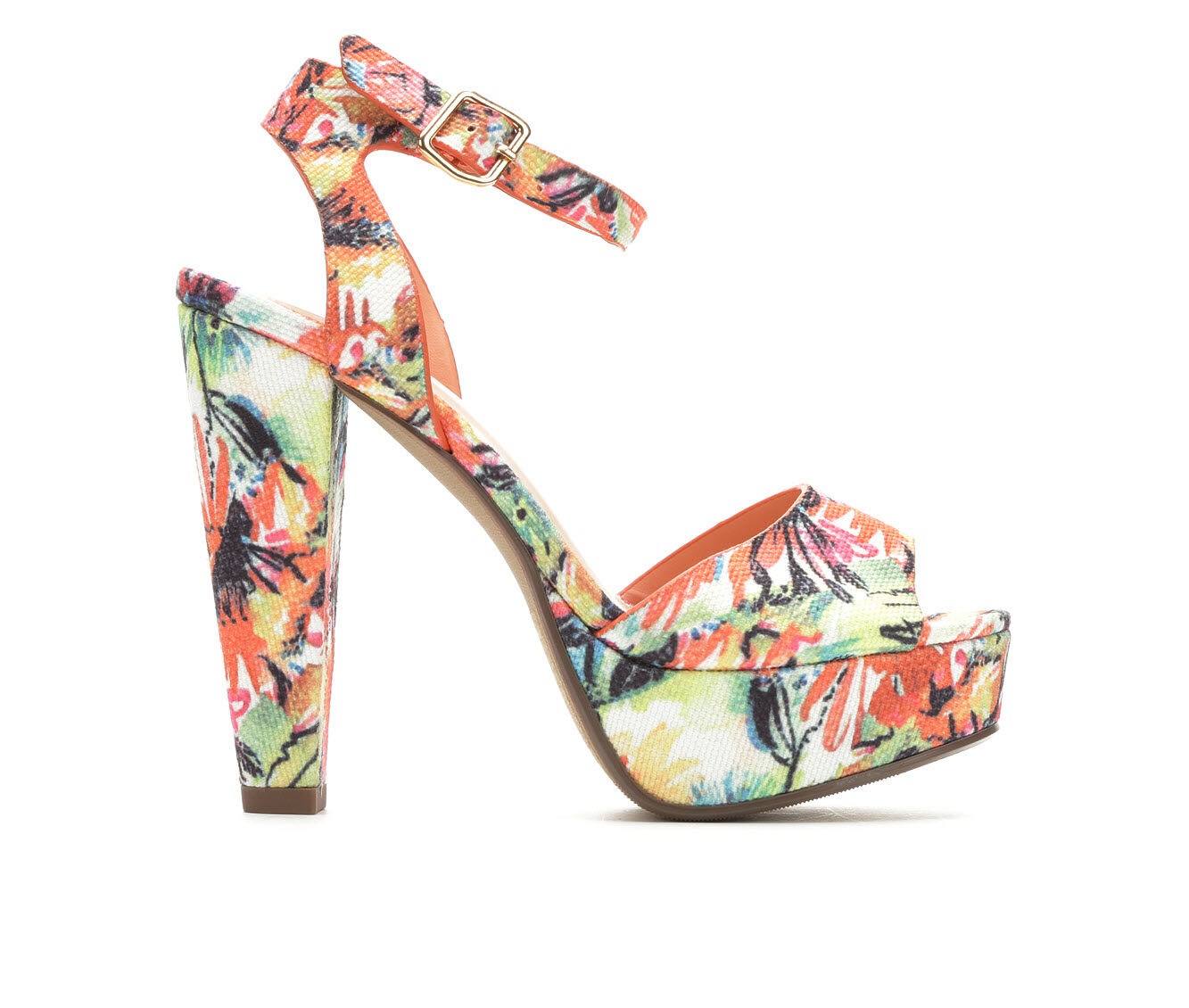 Women's Delicious Purify Heeled Sandals Orange Multi