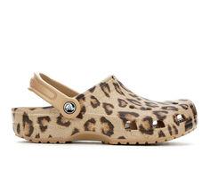 Women's Crocs Classic Leopard Print Clogs