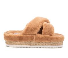 Women's Olivia Miller Morciano Flatform Fuzzy Sandals
