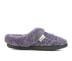 Dearfoams Cable Knit Chenille Slippers