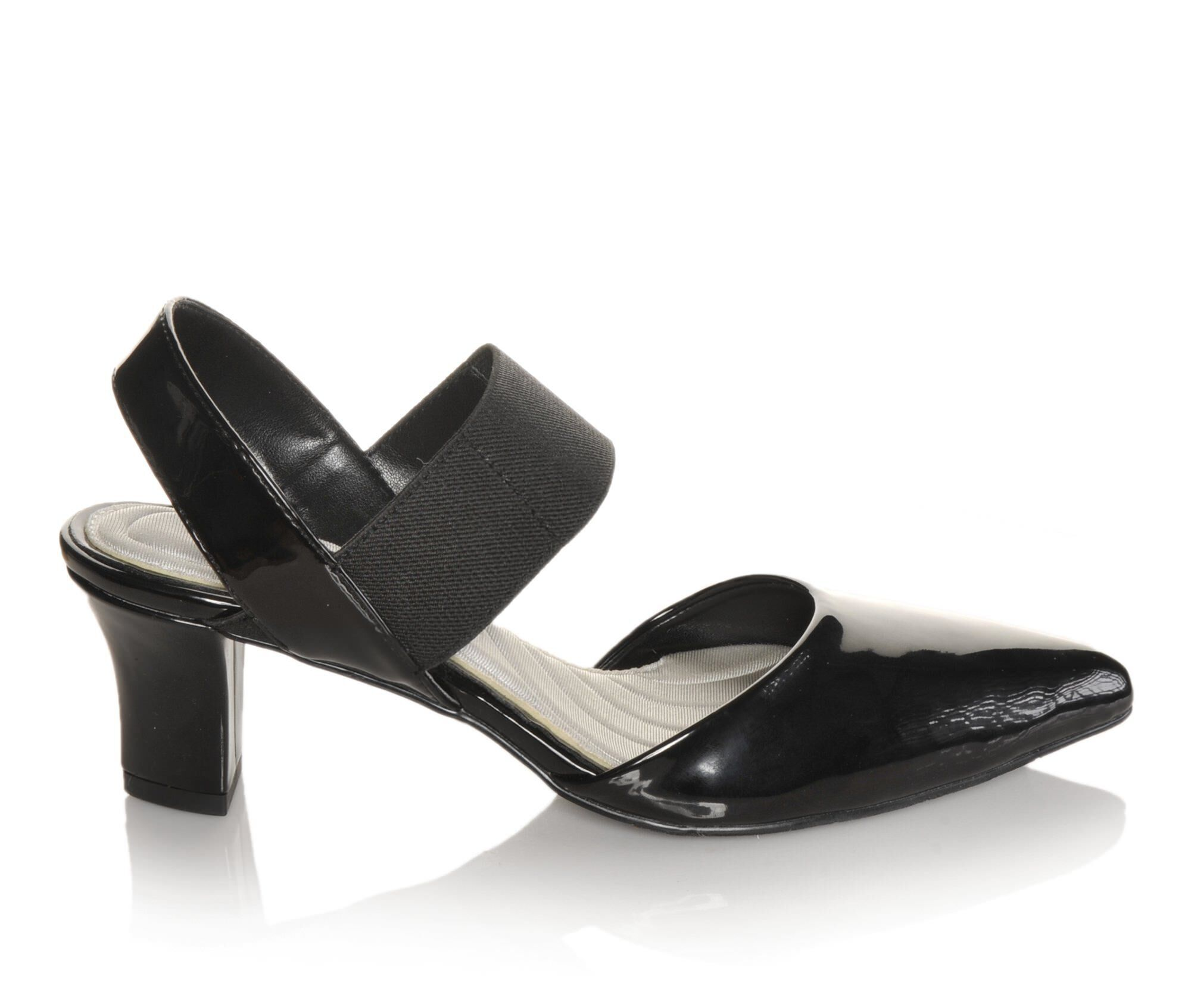 Women's Easy Street Vibrant Shoes Black Patent