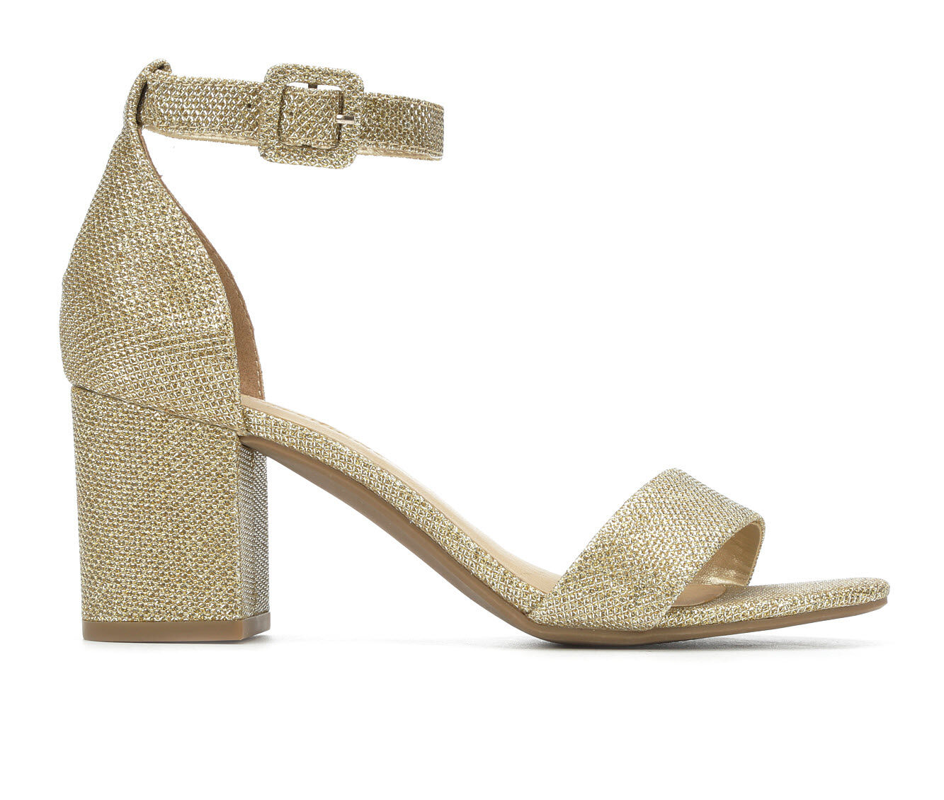 New Fashion Women's City Classified Cake Heeled Sandals Lt Gold Shimmer