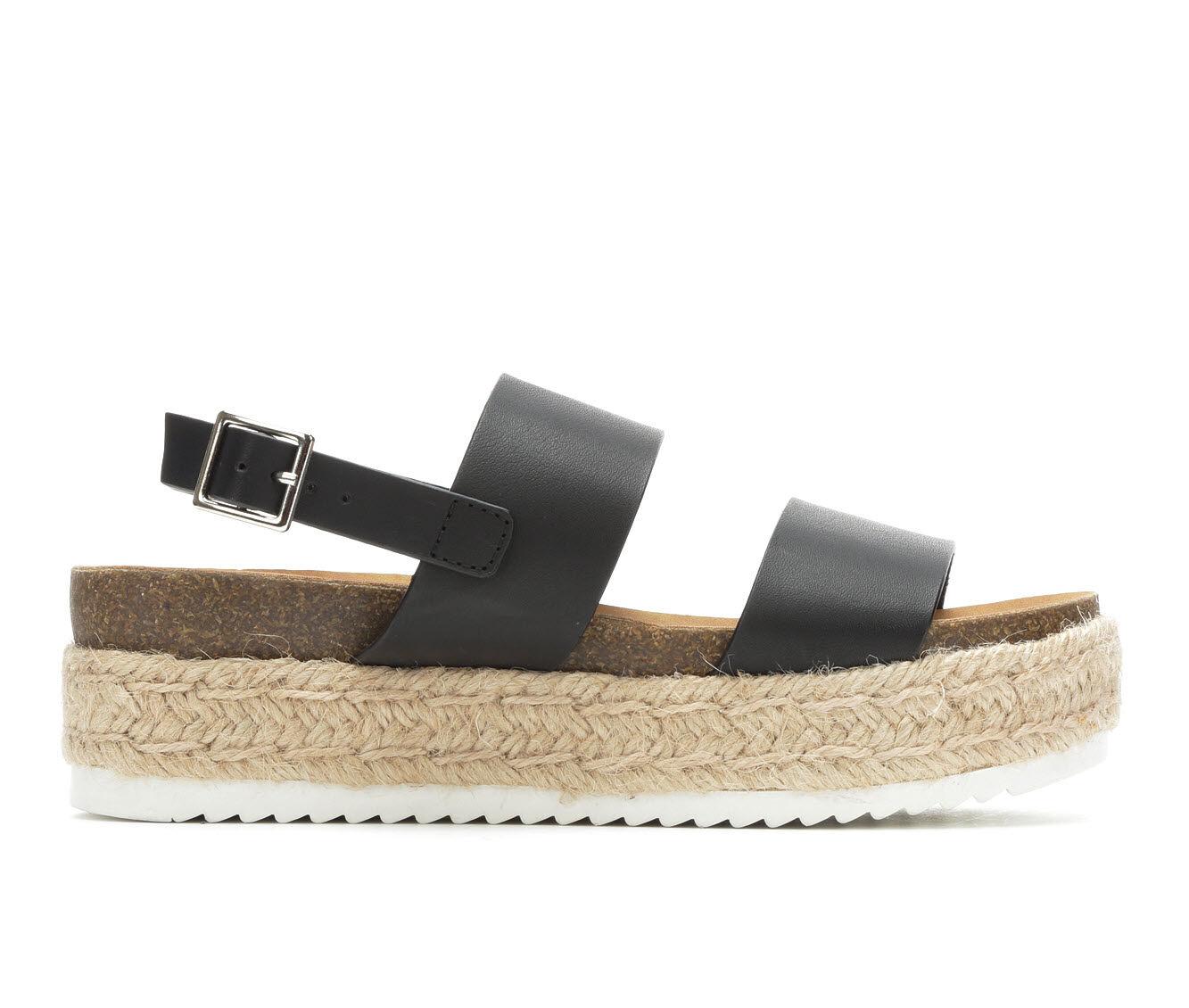 Women's Soda Kazoo Flatform Sandals Black