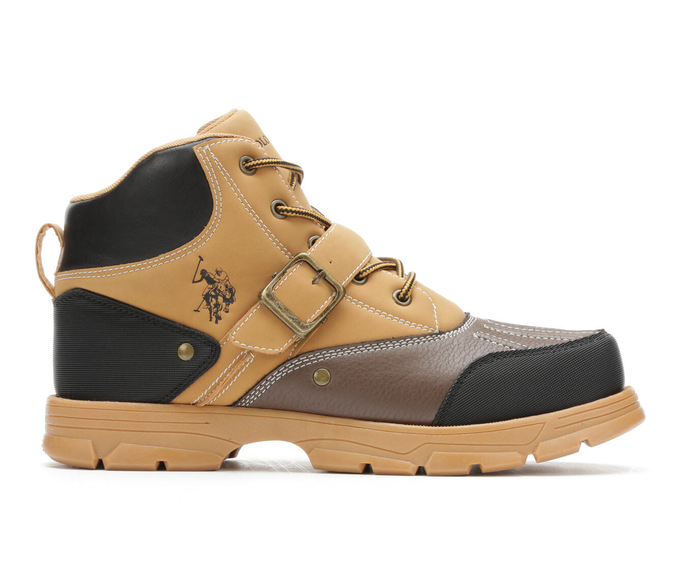 Men's US Polo Assn Kedge Lace-Up Boots Wheat/Brown