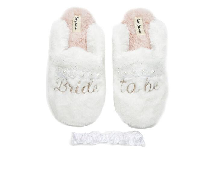 Dearfoams Bride to be Scuff Slippers