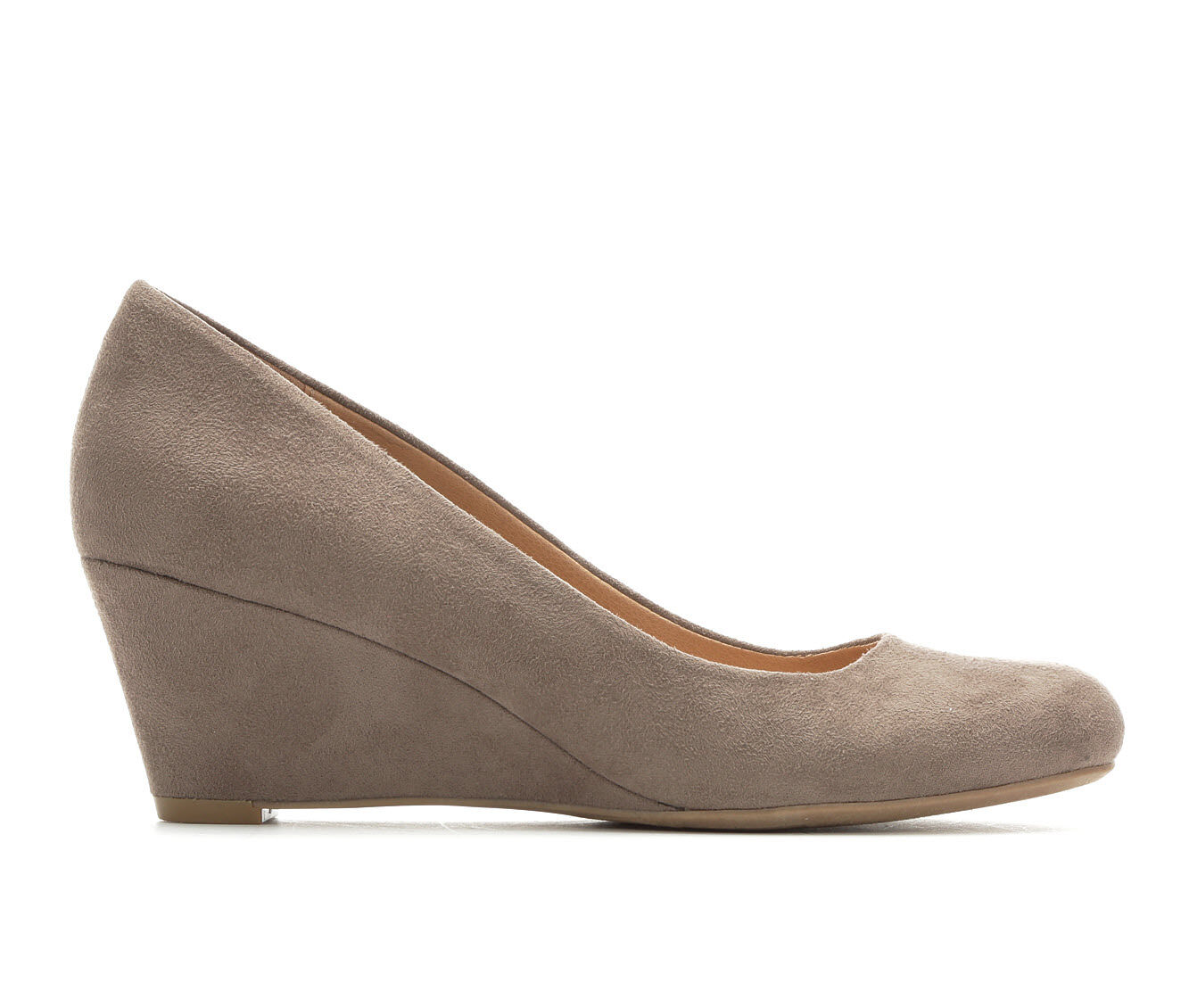 Women's David Aaron Traci Wedges Taupe Micro