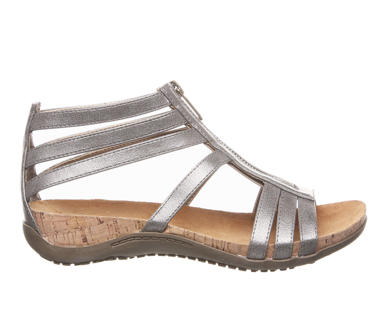 choose authentic cheap Women's Bearpaw Layla Footbed Sandals Pewter