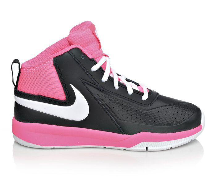 Girls' Nike Team Hustle D7 10.5-3 Basketball Shoes