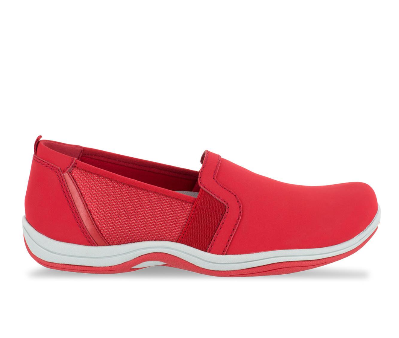 Women's Easy Street Mollie Slip-Ons Red Lea/Mesh