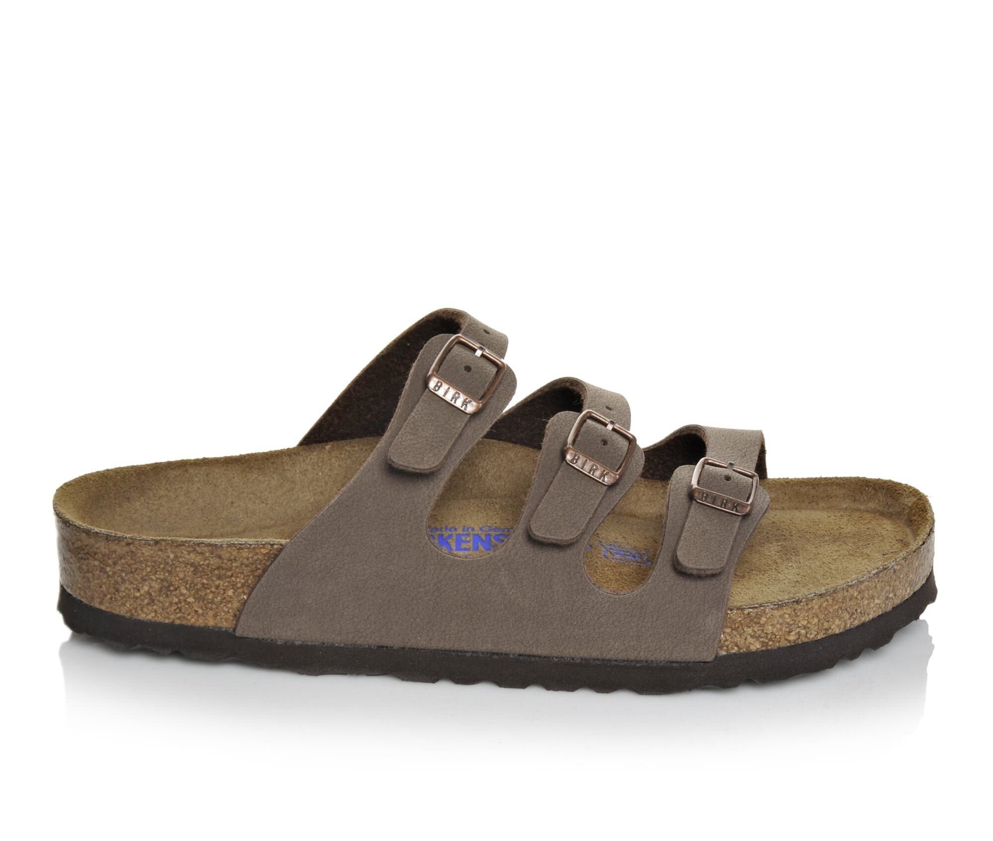 find authentic cheap Women's Birkenstock Florida Strappy Footbed Sandals Mocha