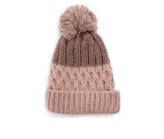 Muk Luks Women's Lattice Pom Cuff Cap