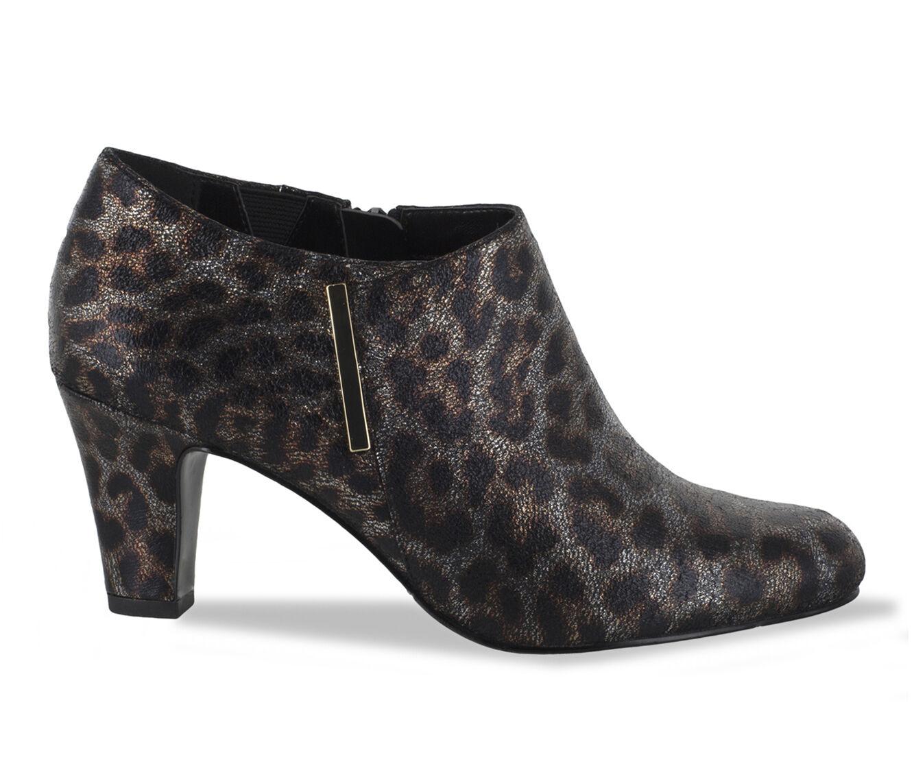 purchase cheapest Women's Easy Street Zandra Booties Met Leopard
