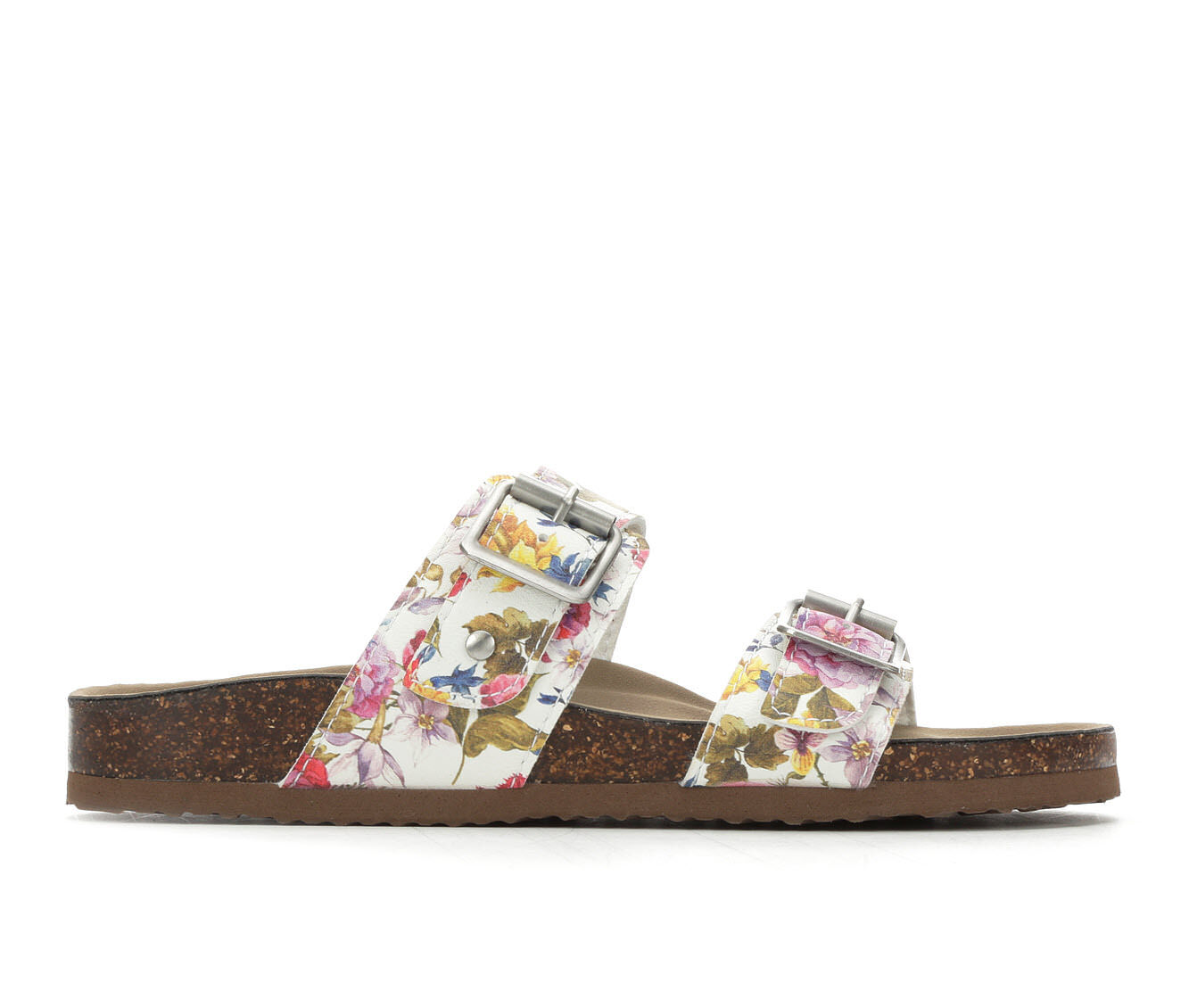 Purchase Price Women's Madden Girl Brando Footbed Sandals Whiteflower PU