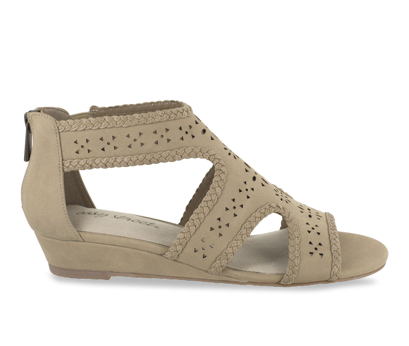 Low prices Women's Easy Street Thelma Strappy Wedge Sandals Beige Linen