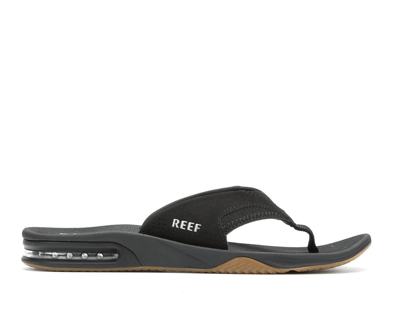 Men's Reef Fanning Flip-Flops Black/Silver
