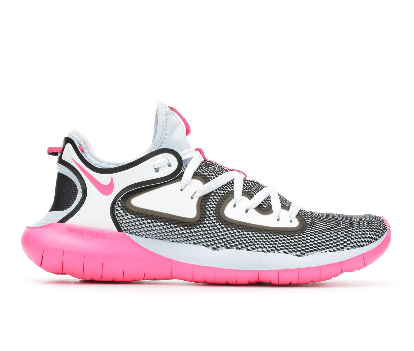 Women's Nike Flex 2019 RN Running Shoes Blue/Pink/Wh/Bk