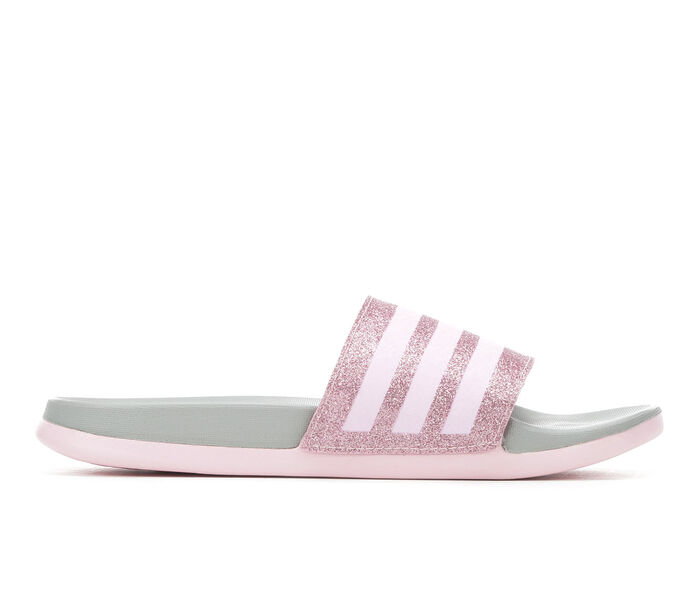 Girls' Adidas Little Kid & Big Kid Adilette Comfort Sport Slides