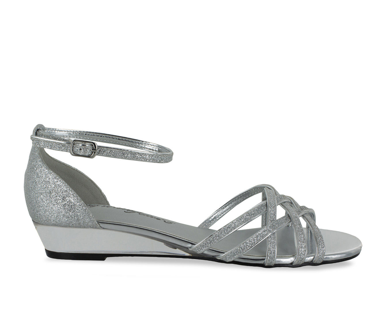 Women's Easy Street Tarrah Shoes Silver Glitter