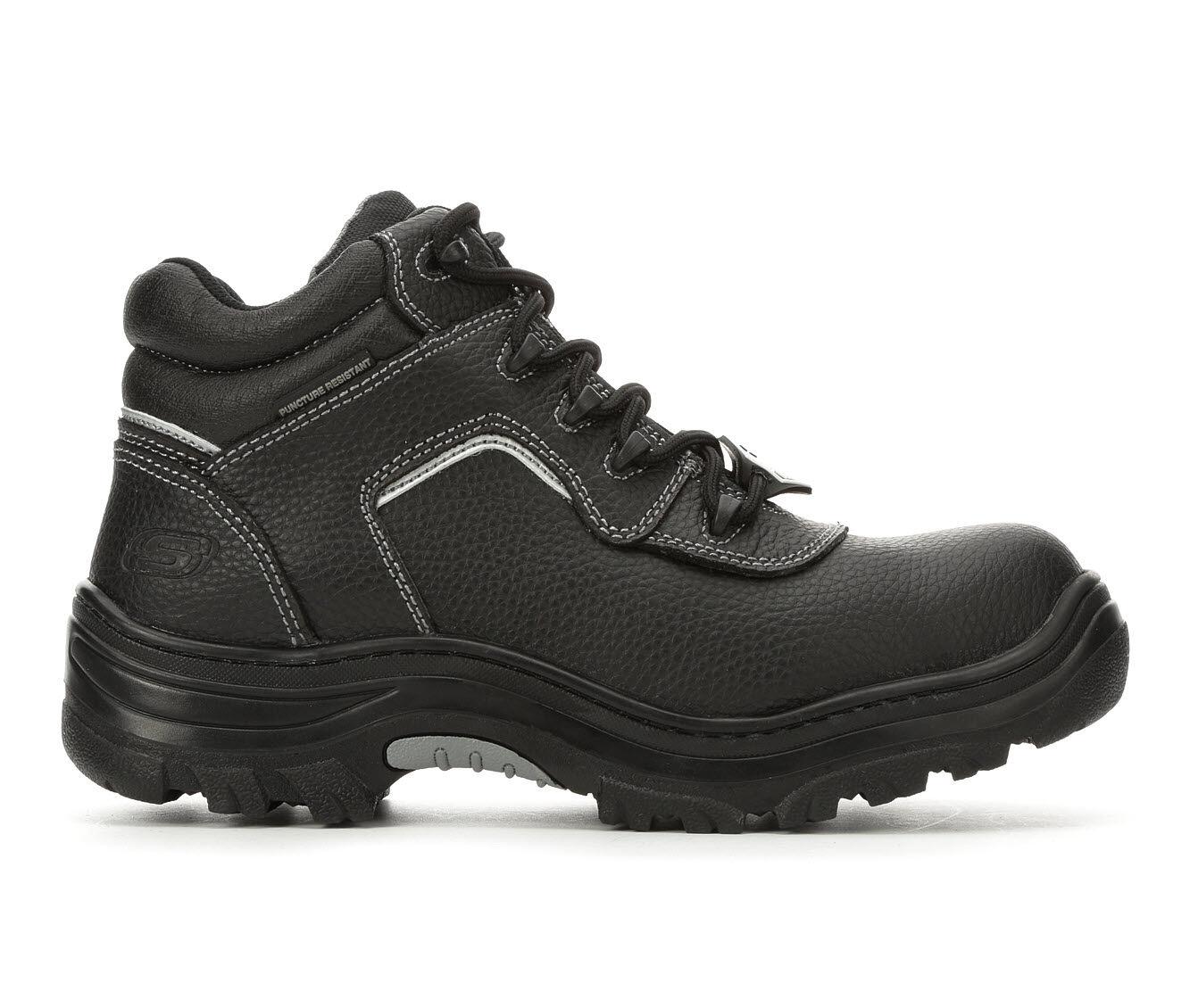 Price Reduced Men's Skechers Work Workshire Burgin Sosder 77144 Work Boots Black