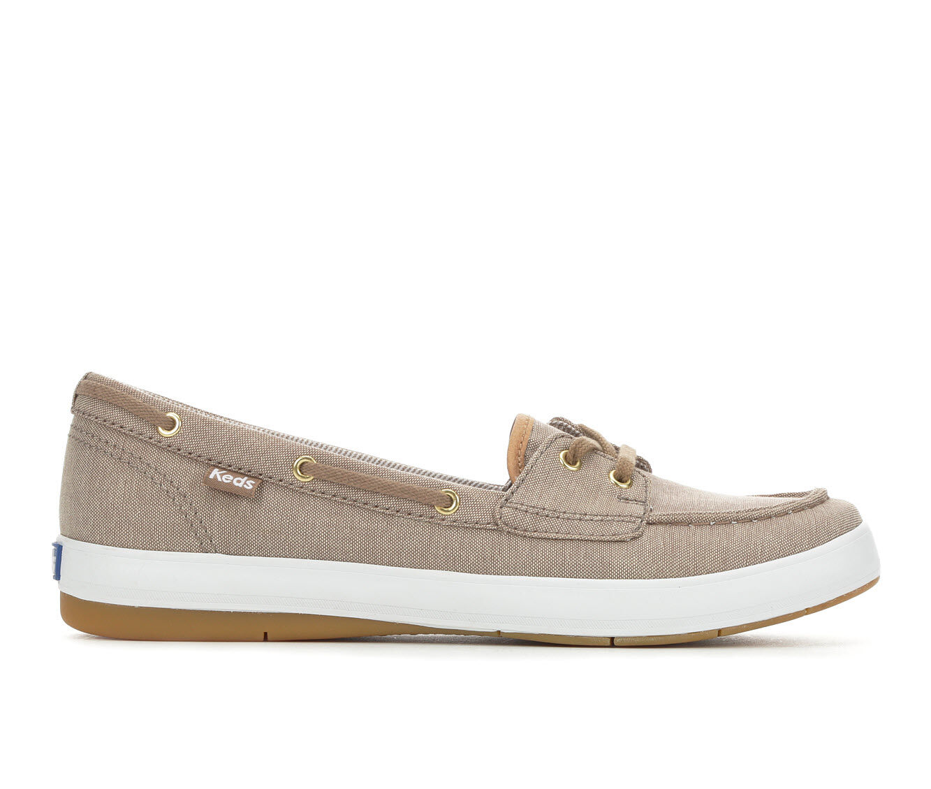 Women's Keds Charter Chambray Slip-On Shoes Walnut