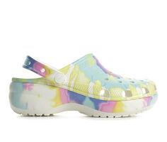 Women's Crocs Classic Platform Tie Dye Clogs