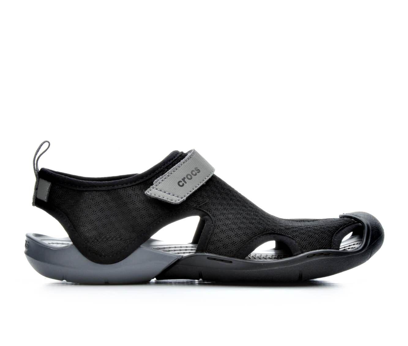 Sunshine Men Crocs Swiftwater Sandal Brown/Black - H2H3335403