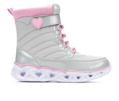 Girls' Skechers Little Kid & Big Kid Heart Lights Chaser Light-Up Boots