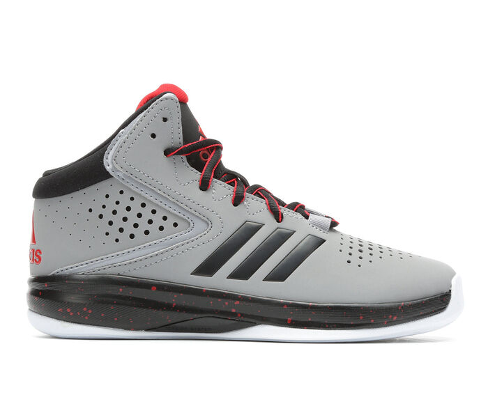 Boys' Adidas Cross 'Em Up Wide 10.5-7 High Top Basketball Shoes