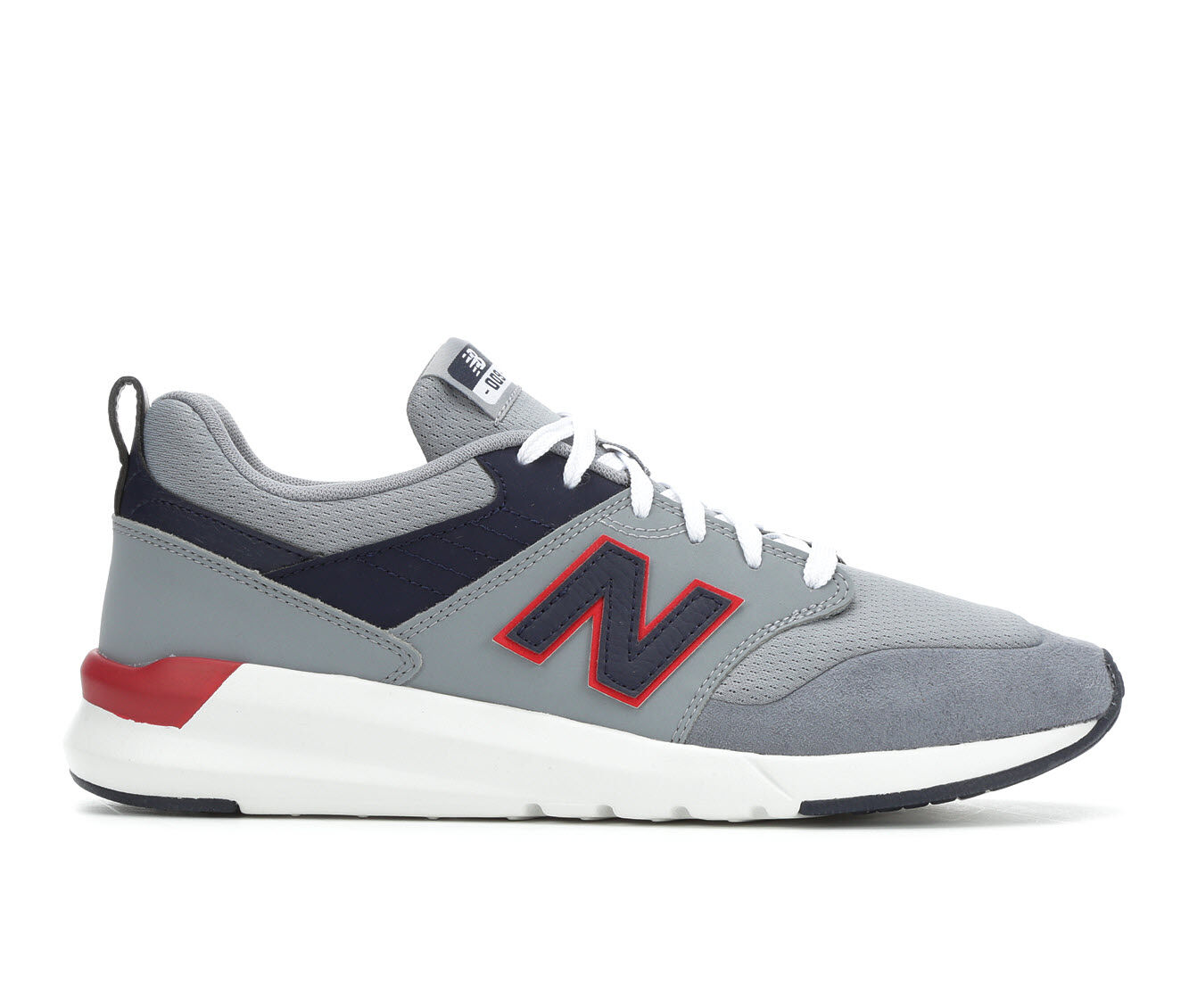 autumn styles Men's New Balance 009 Retro Sneakers Gry/Navy/Red