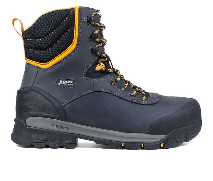 "Men's Bogs Footwear Bedrock 8"" Comp Toe Insulated Work Boots"