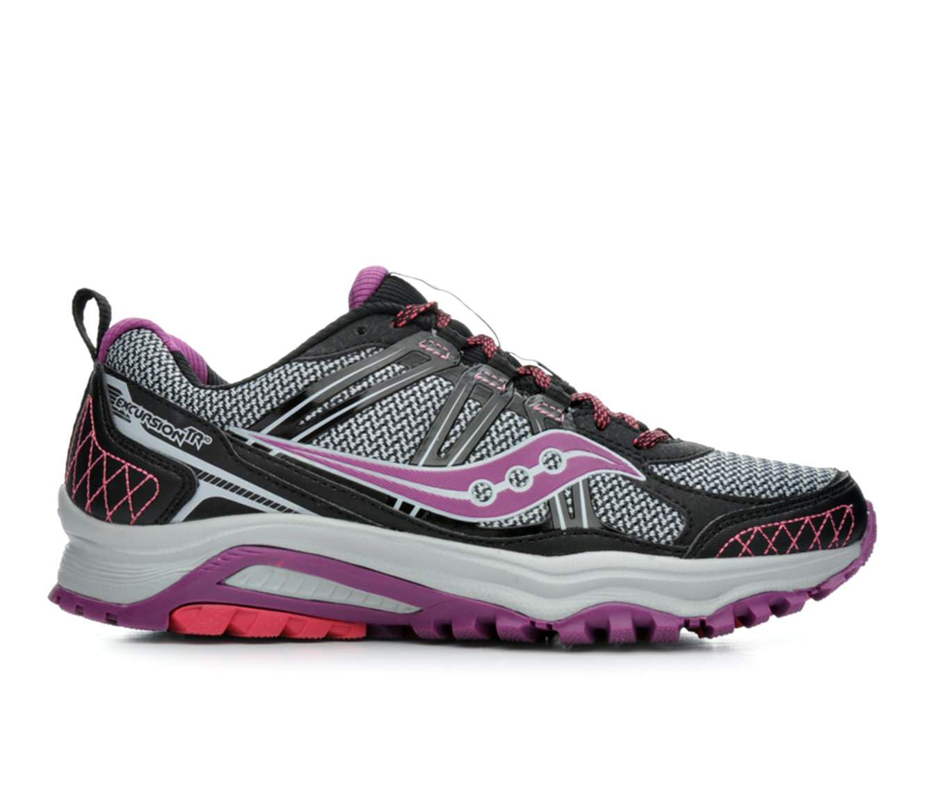 black and pink saucony shoes