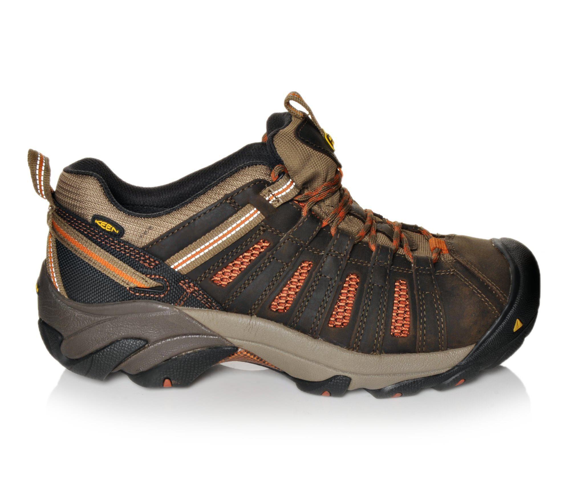 buy authentic new arrivals Men's KEEN Utility Flint Low Steel Toe Work Shoes Shittake/Rust