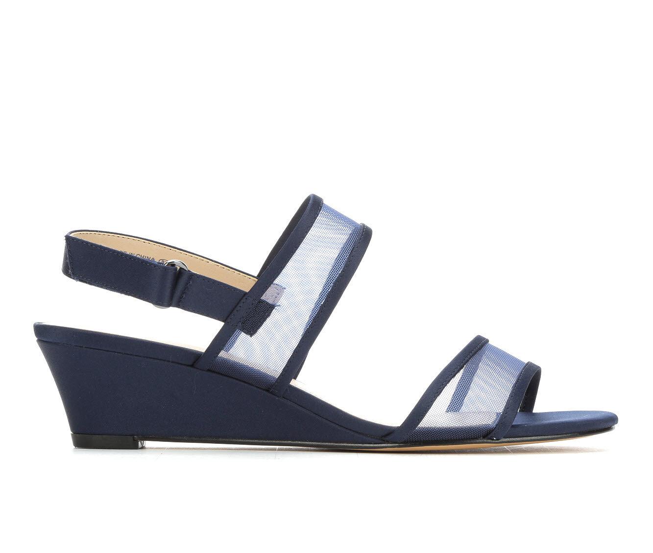 Women's Touch Of Nina Fliss Wedge Dress Sandals Navy