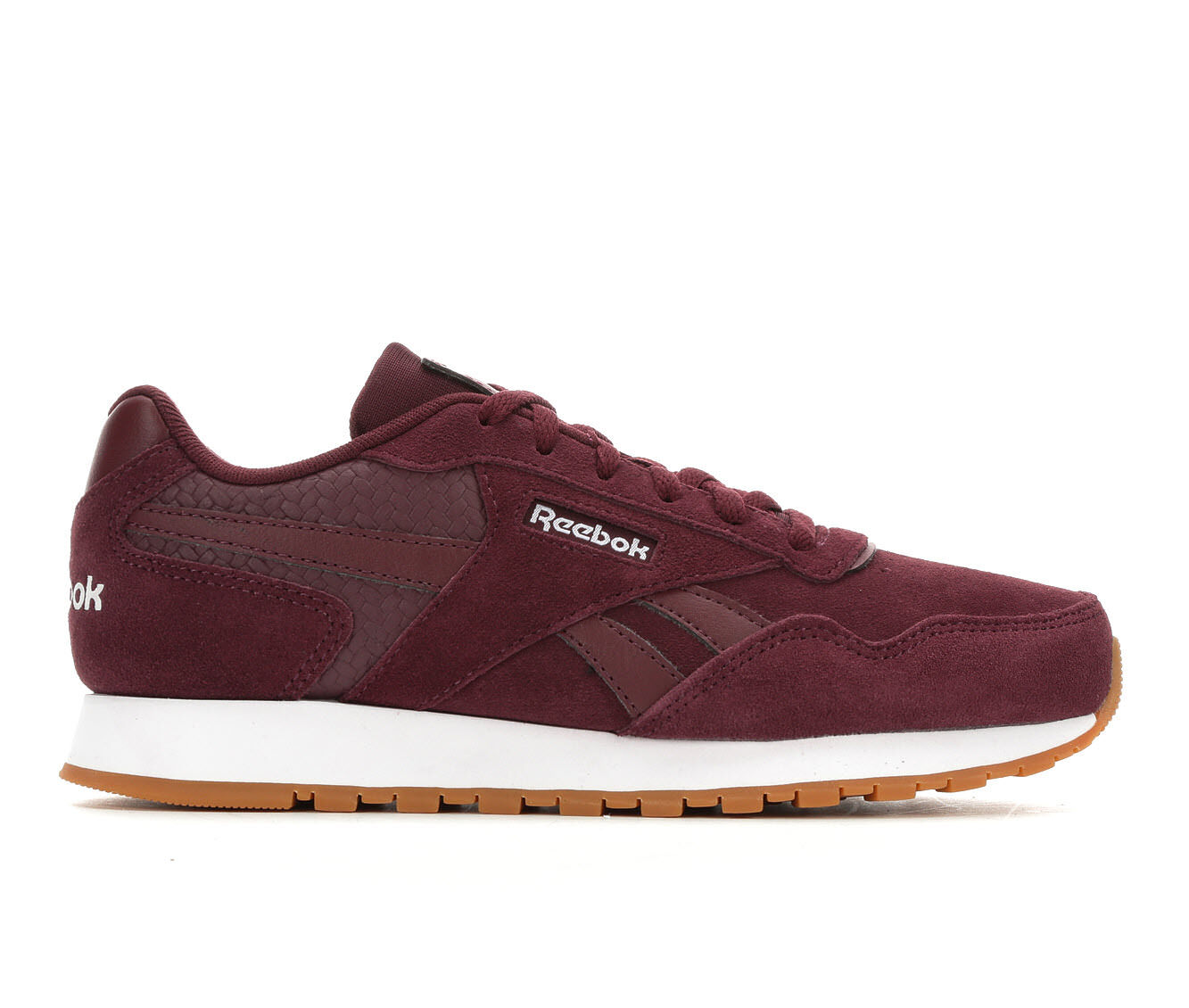 Women's Reebok Classic Harman Run Retro Sneakers Burg/Wht/Woven