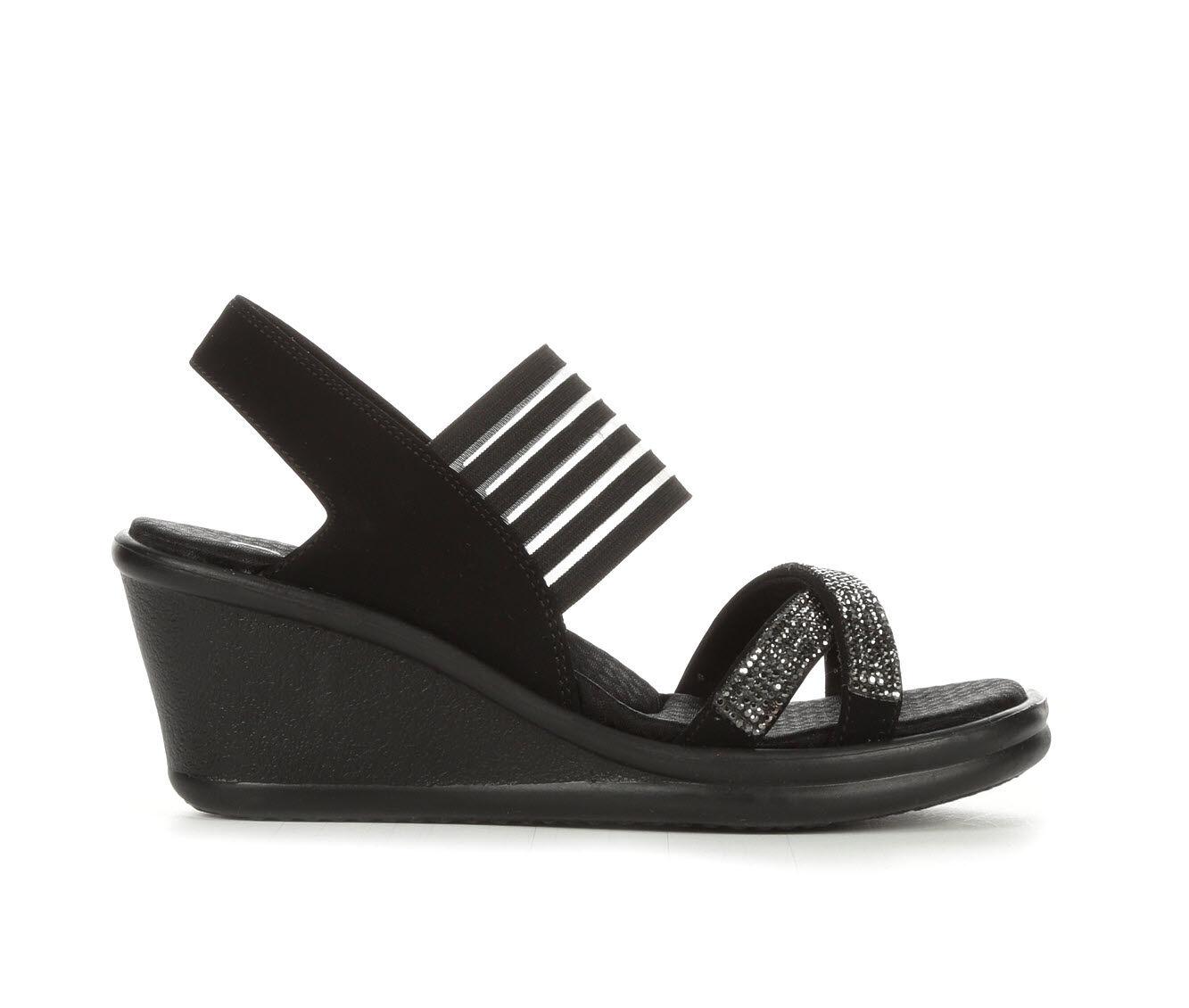 Women's Skechers Cali Rumblers Modern Maze Wedge Sandals