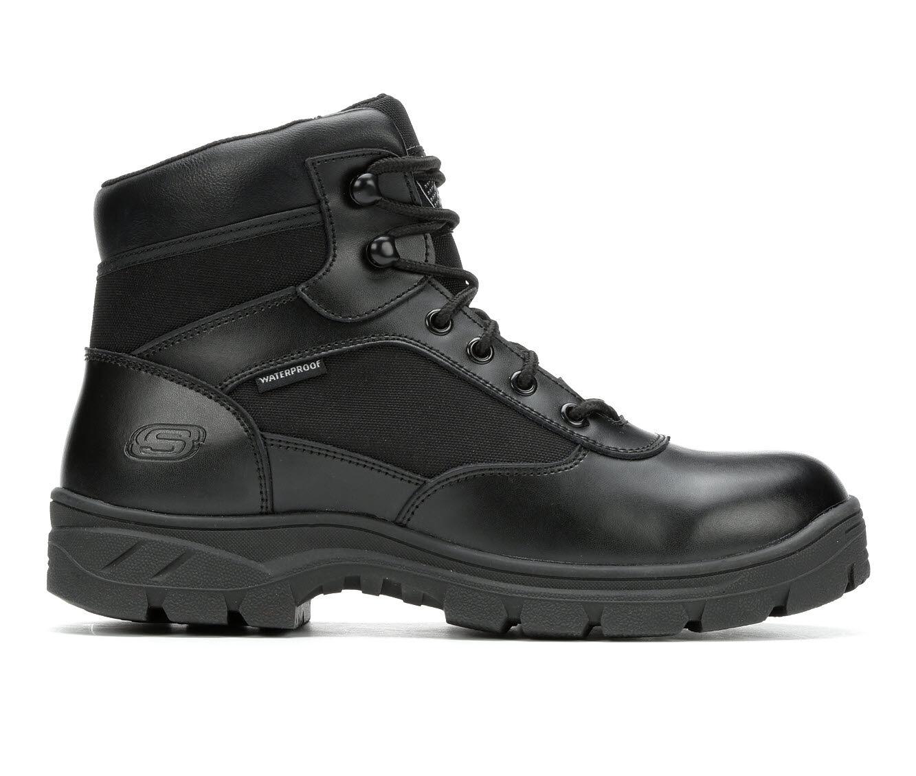 Men's Skechers Work Benen Electrical Hazard Waterproof 77526 Work Boots Black