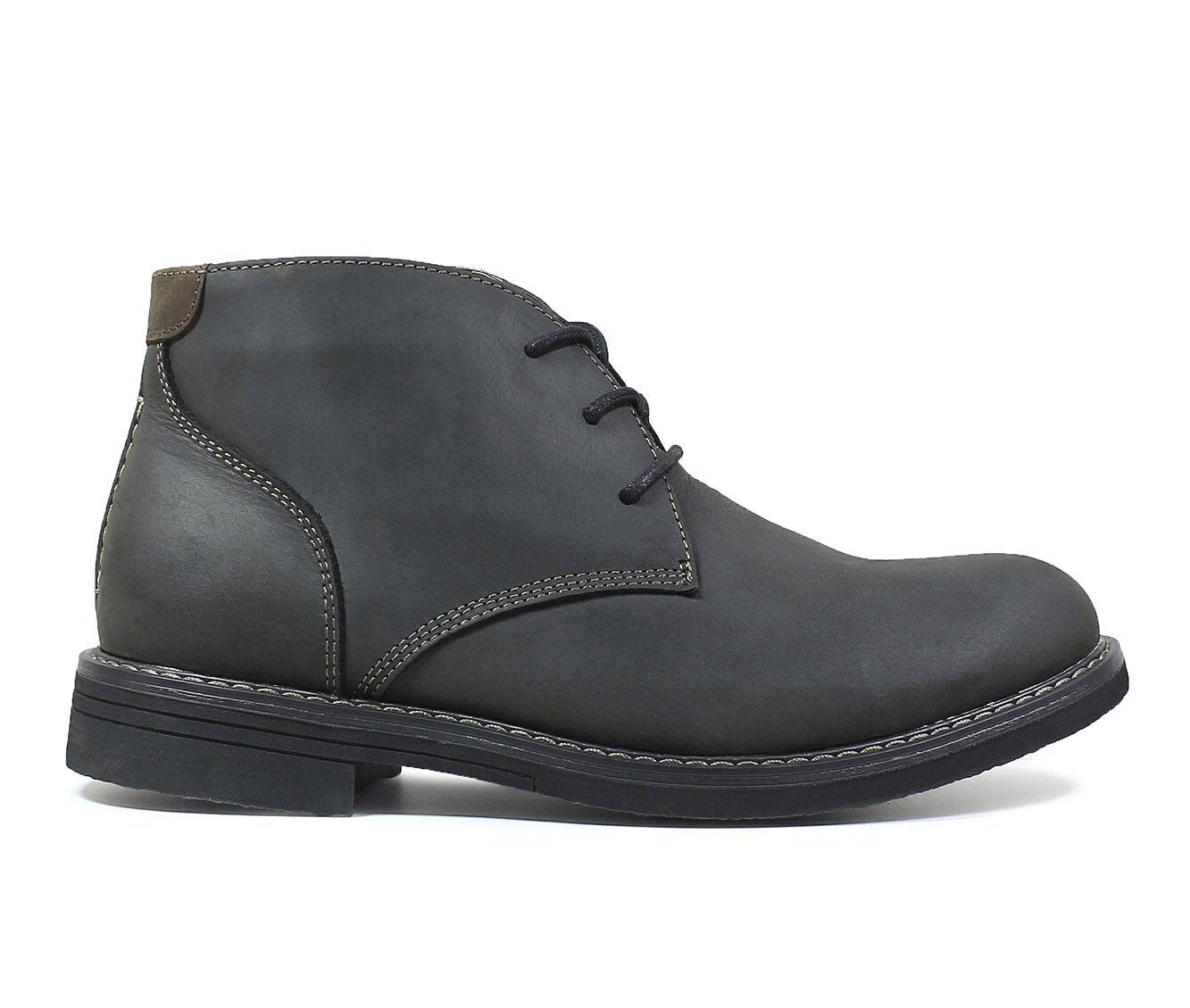 Get Cheap Men's Nunn Bush Lancaster Plain Toe Chukka Boots Black