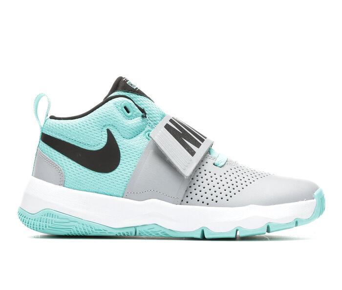 Girls' Nike Team Hustle D8 3.5-7 High Top Basketball Shoes