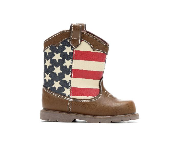 Boys' Natural Steps Infant & Toddler Stripes Cowboy Boots
