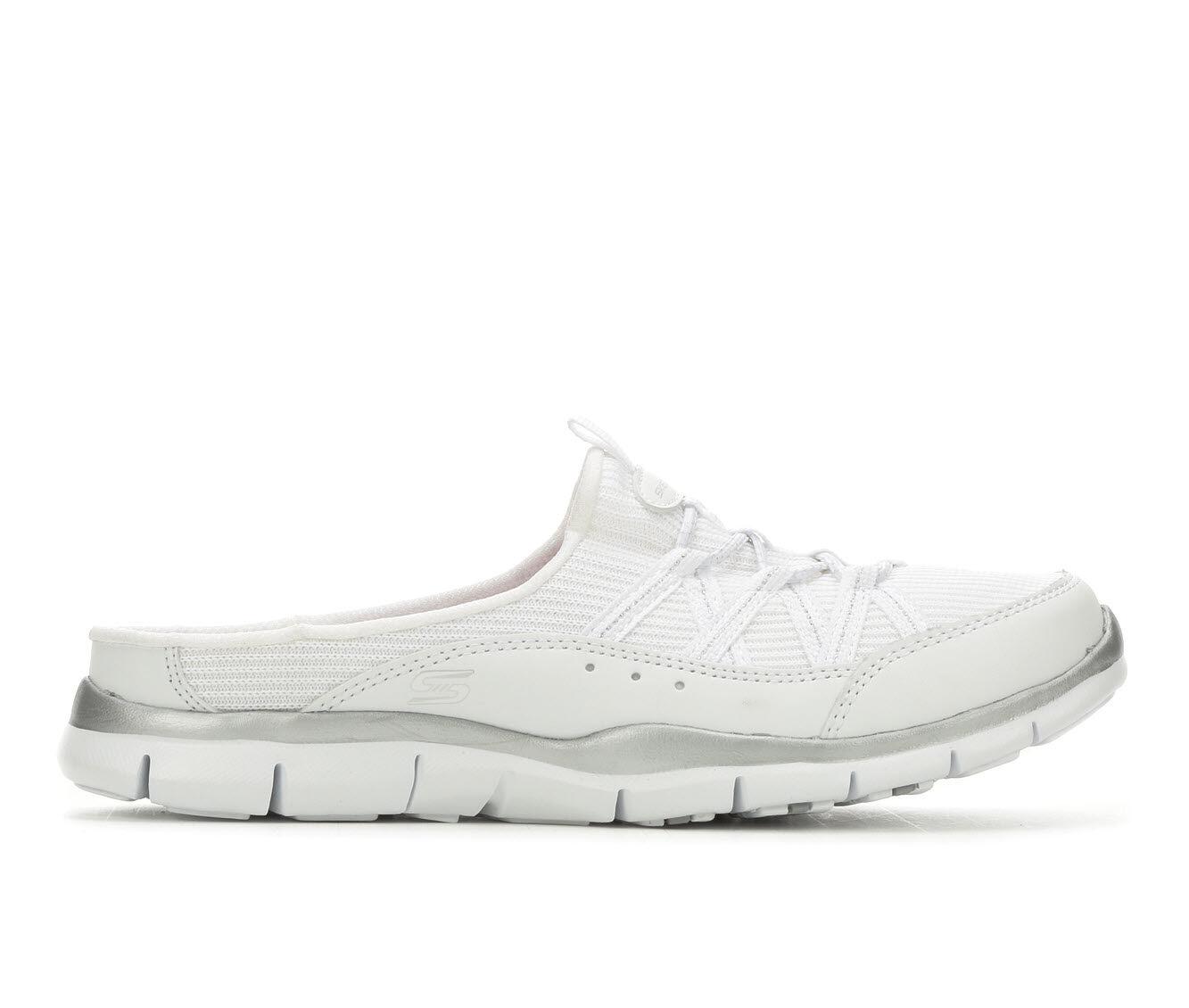 Women's Skechers Real Story 23777 Slip-On Sneakers White/Silver