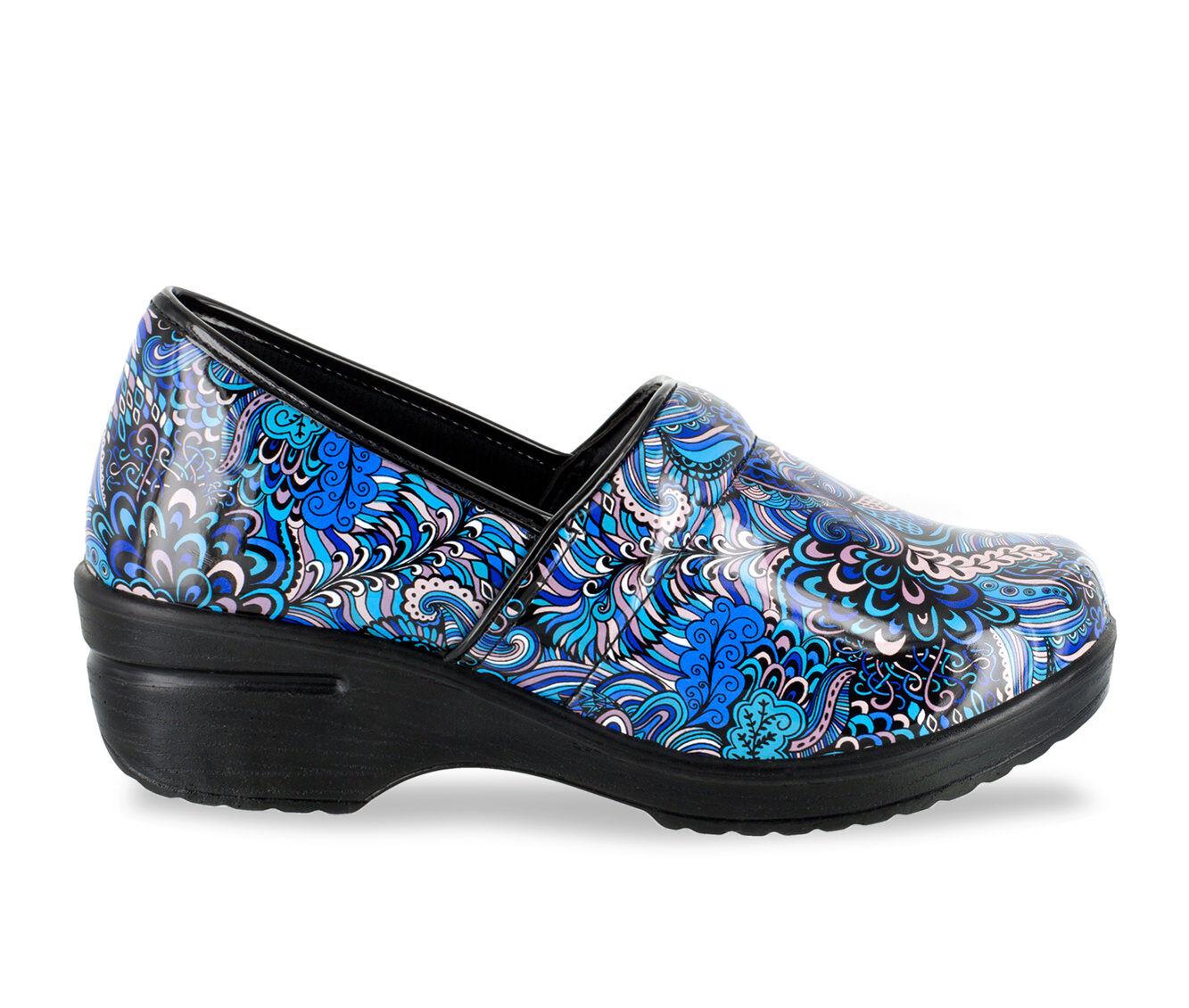 Women's Easy Works by Easy Street Lyndee Slip-Resistant Clogs Blue Pop