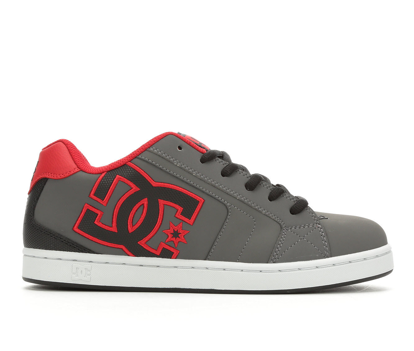 Men's DC Net Skate Shoes Gry/Blk/Red GBG