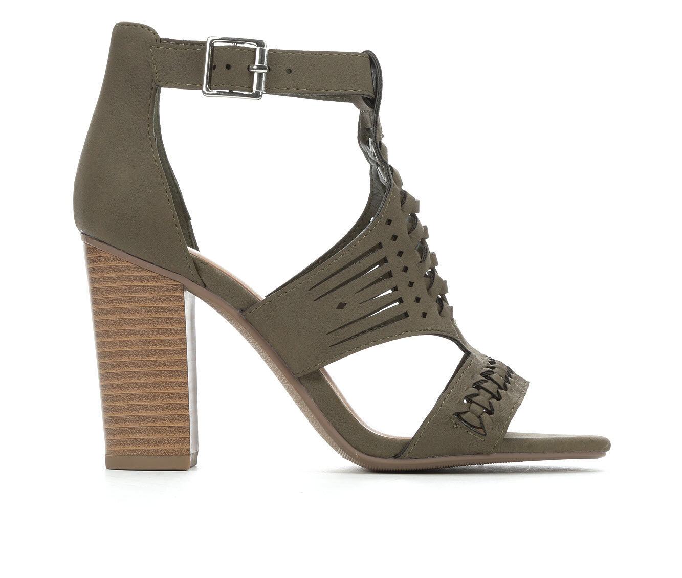 Women's Y-Not Beatrice Heeled Sandals Lt. Olive