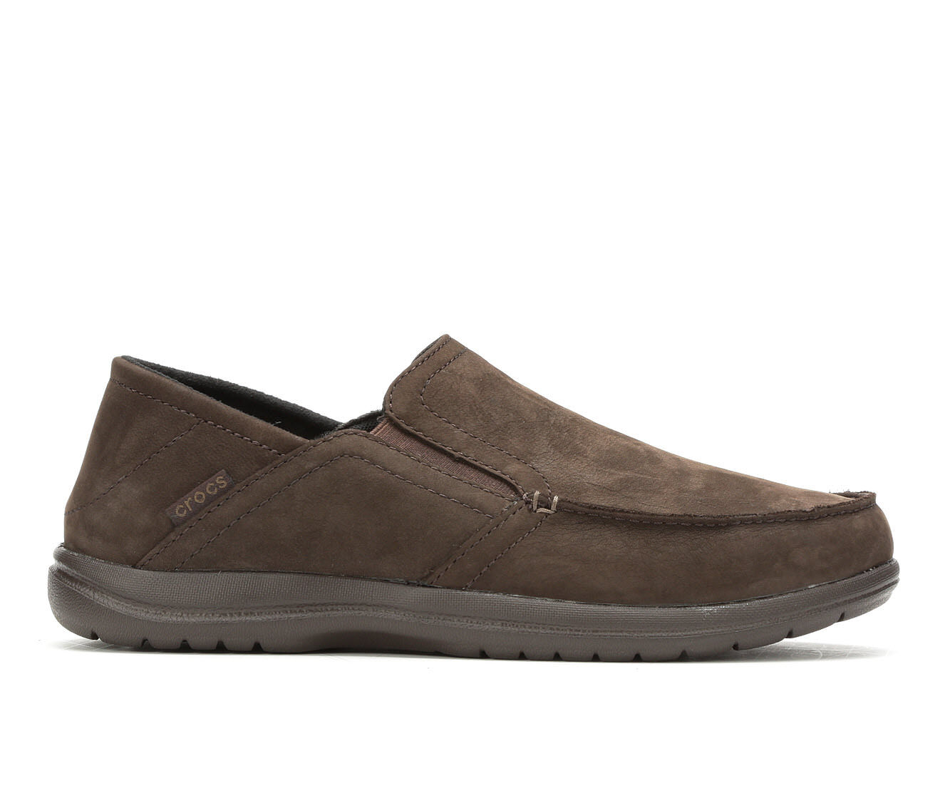 Men's Crocs Santa Cruz Convertible Leather Slip On Espresso