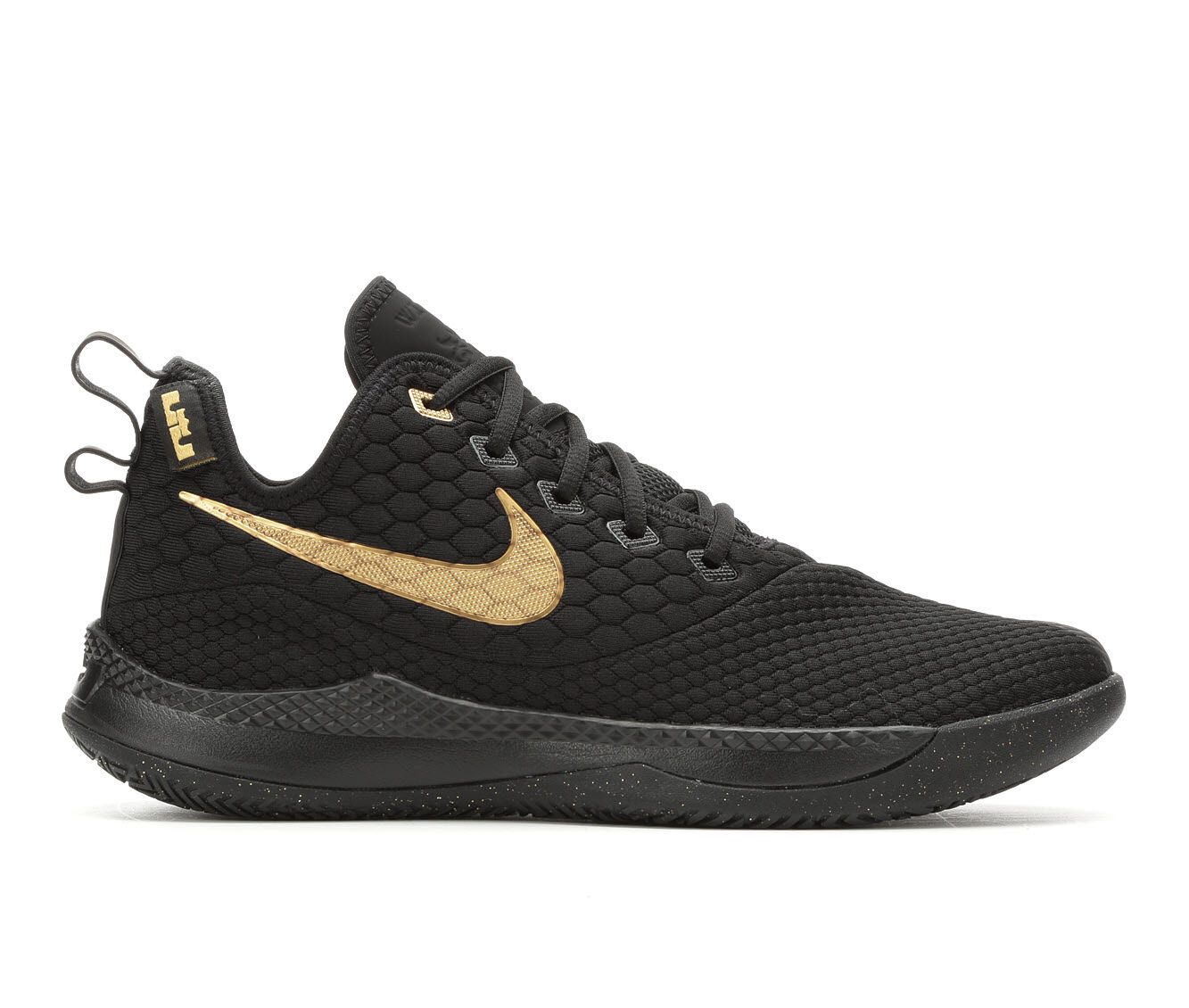 choose cheap Men's Nike Lebron Witness III Basketball Shoes Blk/Gold